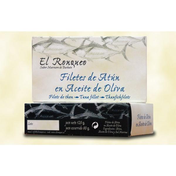 Feinste weiße Thunfischfilets in Olivenöl, Filete de Atún blanco